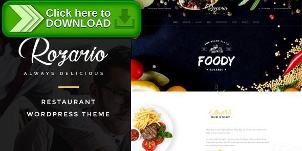 [ThemeForest]Free nulled download Rozario - Restaurant & Food WordPress Theme from http://zippyfile.download/f.php?id=28718 Tags: asian restaurant, Creative Restaurant, dining, food, italian restaurant, lunch, mexican restaurant, reservation, restaurant, slider, smooth, table, trends