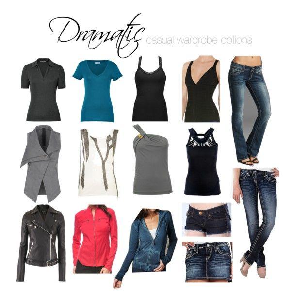 Dramatic casual wardrobe options