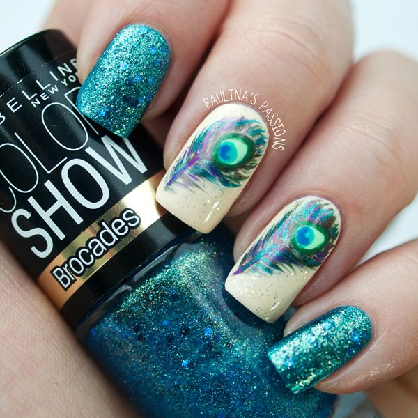 How to Peacock Nails | That's it for my peacock nails. What do you think? :)