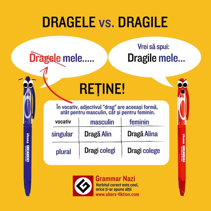 """Aşa cum, în vocativ, la singular, """"Dragă"""" are aceeaşi formă, atât pentru masculin, cât şi pentru feminin, tot la fel se întâmplă şi la plural: """"Dragi colegi, Dragi colege"""". Urm[ri'i lec'ia video a lui #GrammarNazi http://www.ubers-fiktion.com/blog/dragile-mele-am-creat-pentru-voi-o-lectie-video-grammar-nazi/"""