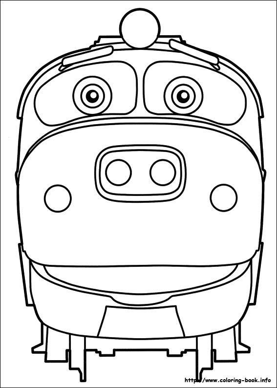 train birthday thomas chuggington printable coloring pages