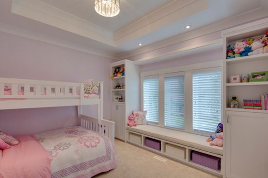 A little girl's room fit for a princess! Soft lavender tones with pink accents make this every little girls dream bedroom!