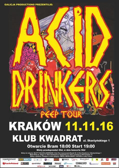Relacja z koncertu Acid Drinkers w Krakowie-> http://heavy-metal-music-and-more.blogspot.com/2016/11/acid-drinkwers-zagrali-w-krakowie.html