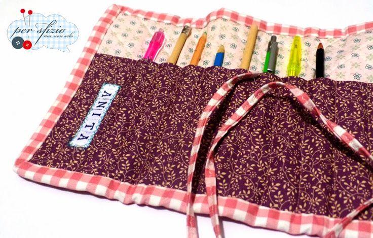 pencil case - creative sewing - portapenne porta matite, cucito creativo