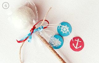 DIY Nautical Cake Pop Favors by Sweet Lauren Cakes, via Flickr