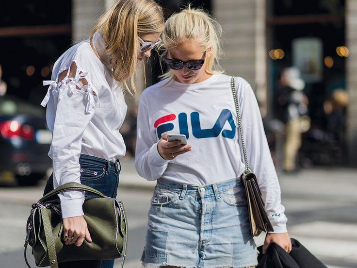 Von untragbar zu übercool: Fila ist der neue Streetstyle-Liebling der Modefrauen