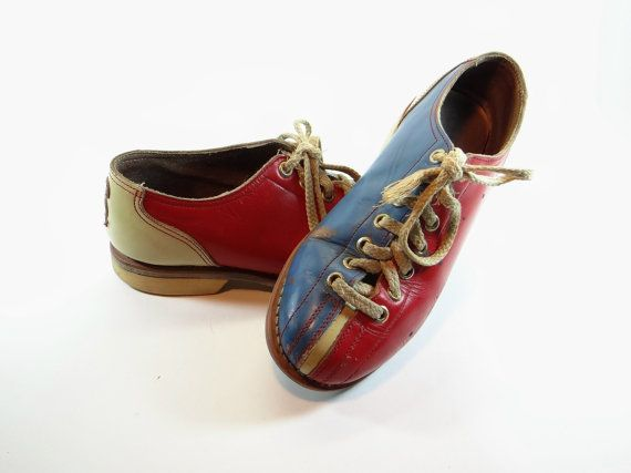 Womens Leather Bowling Shoes Vintage 1950 - Size 6 - Goodyear Steel Shank