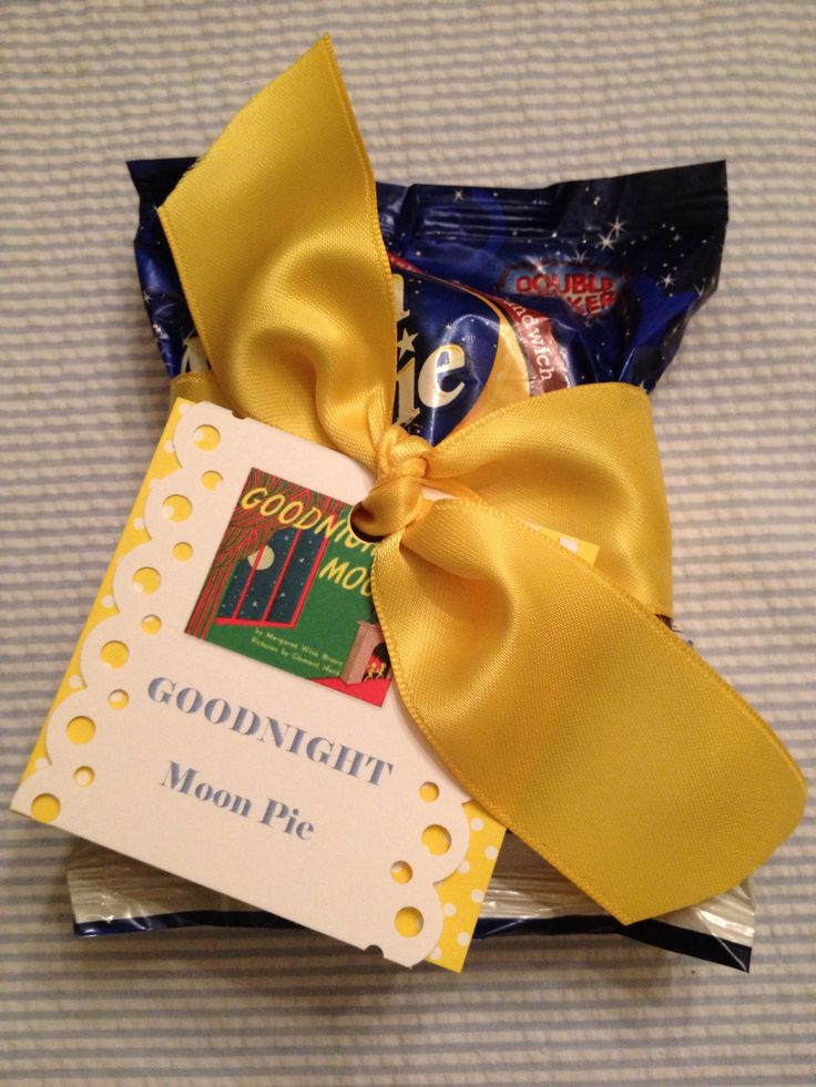 Moon Pie favors for children's book themed baby shower