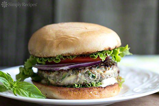 Turkey Zucchini Burger with Garlic Mayo on SimplyRecipes.com