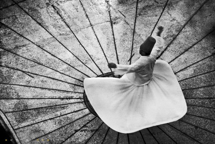 Sufi Dancer | black and white  | Metin Demiralay Photography.