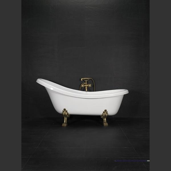 20000710   Westerbergs Madeleine badekar Hvit, 1745x800 mm, løveføtter krom