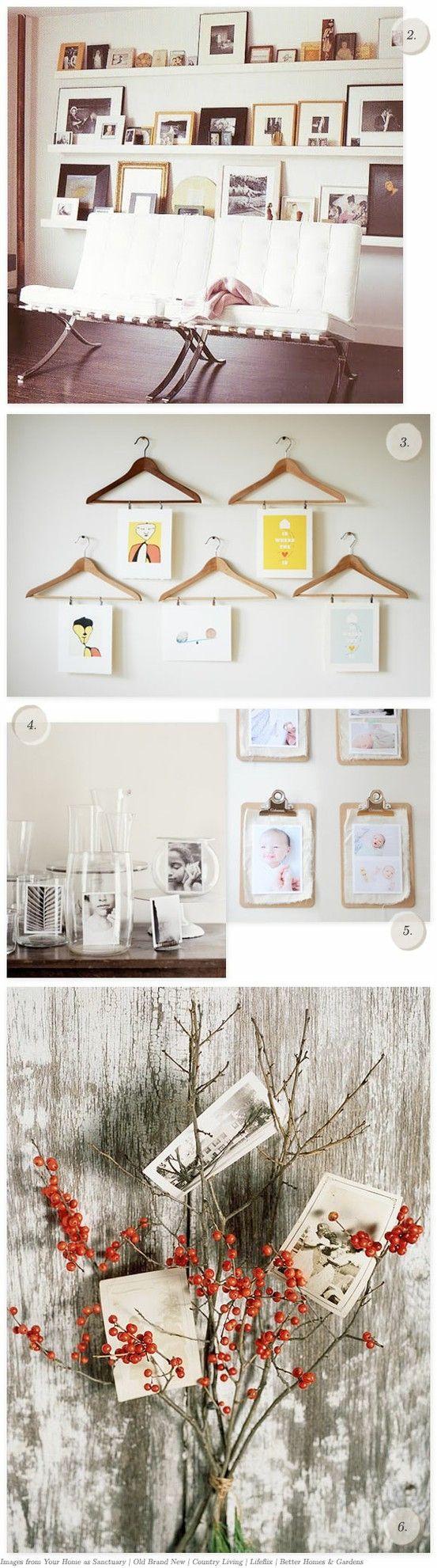 Creative photo display ideas.