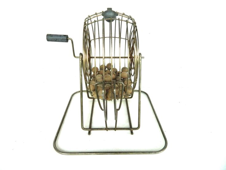 Vintage Bingo Cage with Numbers by alwaysmaybevintage on Etsy https://www.etsy.com/listing/251773736/vintage-bingo-cage-with-numbers
