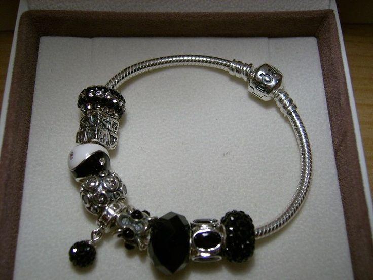 Original Pandora komplett Armband mit 9 Beads in schwarz 17cm-23cm NEU & OVP in Uhren & Schmuck, Echtschmuck, Bettelarmbänder & Anhänger | eBay!