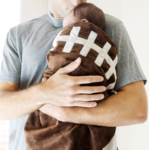 Touchdown Football Blanket....also shaped like a football.