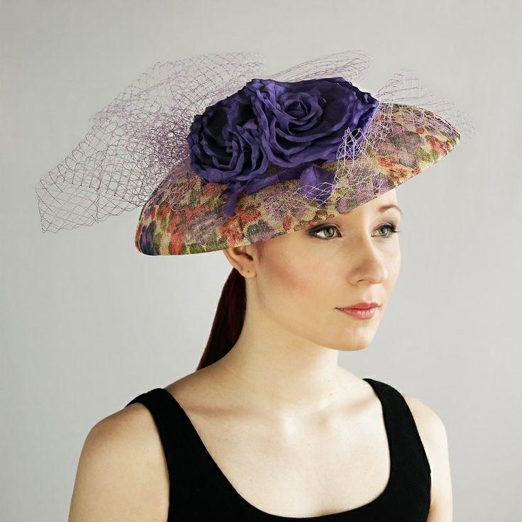 av Annina SS 2014 fascinator, hat, purple flowers, tulle www.avannina.fi #avannina #fascinator