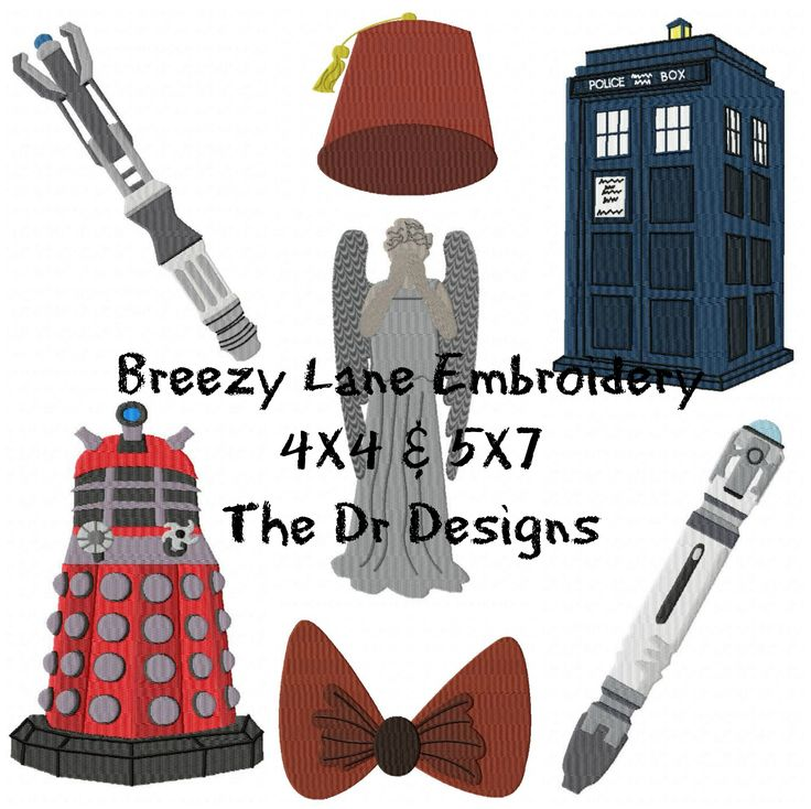 50 Best Machine Embroidery Design Dr Who Images On Pinterest