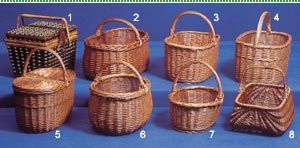Puolalaisia pajukoreja / Polish willow baskets. This Annansilmät-Aitta organization also sells Polish willow baskets. Why? I don't know. But these are very common (shopping and berry picking baskets) in Finland so maybe they want to respond to the demand.