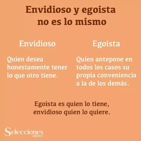 #Envidioso #egoísta