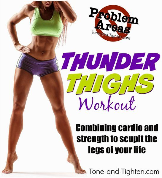 """Problem Areas Series – How to get rid of """"Thunder Thighs"""" – At home workout for legs"""