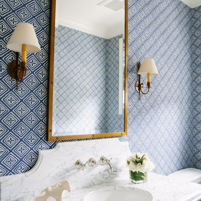 COTTAGE AND VINE  Monday Inspiration   Waterleaf Interiors   love this bathroom  wallpaper and the. 17 Best ideas about Bathroom Wallpaper on Pinterest   Bath powder