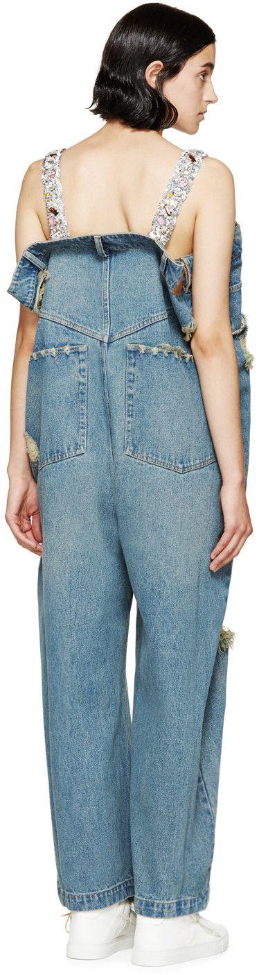 Ashish Blue Oversized Jean Jumpsuit