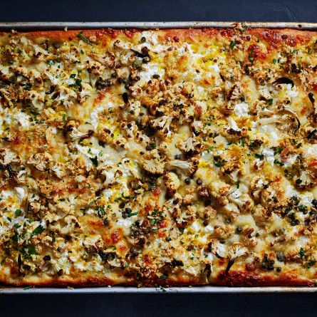 Roasted Cauliflower and Ricotta Grandma Pie Recipe