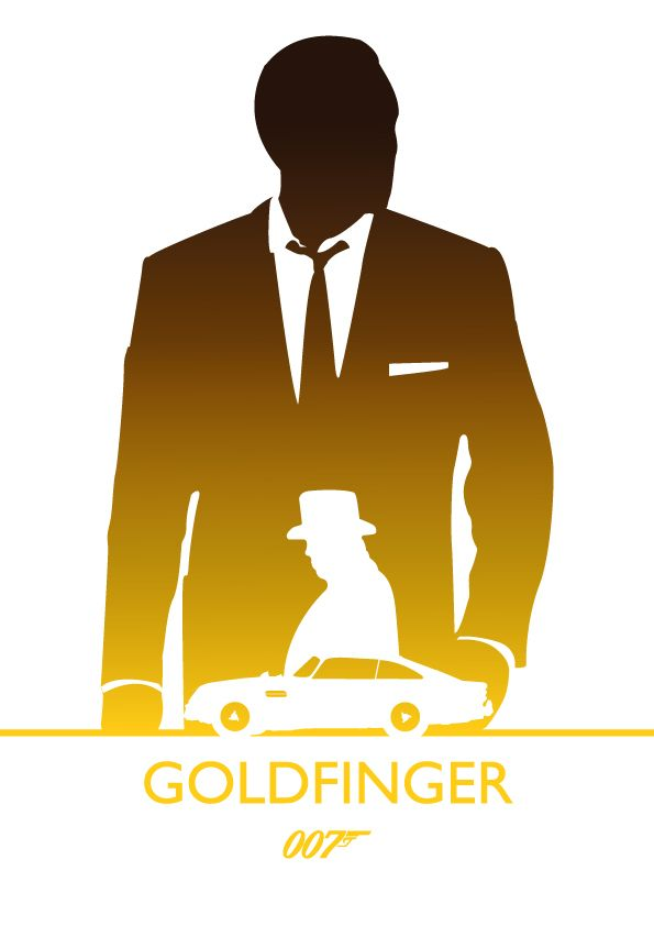 Goldfinger, James Bond by Phil Beverley, via Behance