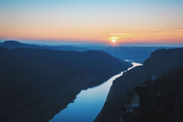 Elbe Sandstone Mountains, #Flickr #Photograph #Tag #Sunrise Aerial photography, Sky, Canon EF 28–300mm lens - Follow #extremegentleman for more pics like this!