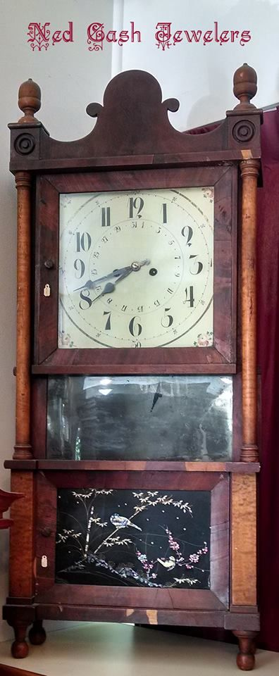 Most of the clocks we sell are new, but we do have this refurbished antique clock for sale at Ned Cash Jewelers!
