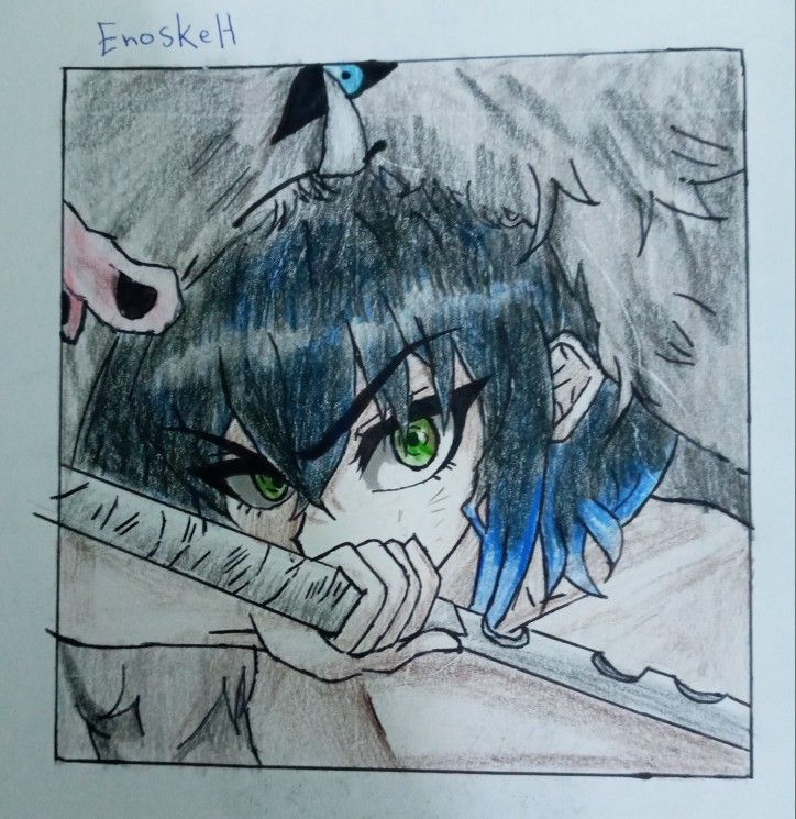 Enoske Hashibara Art My Arts Anime