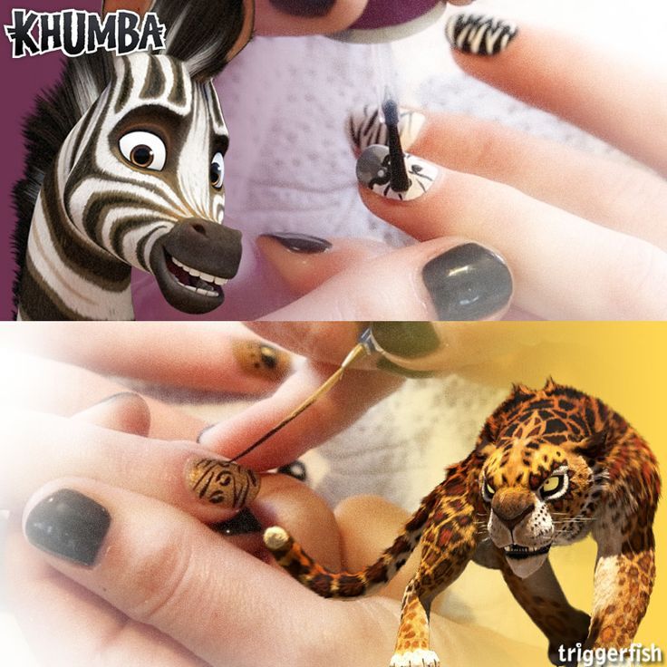 "The time has come for the great FACE OFF - SHOW DOWN…Erm ""NAIL OFF"" ? It's totally the biggest trend out there right now!!  Khumba VS Phango, Stripes VS leopard print ??   Who will WIN? WHAT IS YOUR PICK? Join the herd and VOTE in the comments NOW!!  #KhumbaStyle"