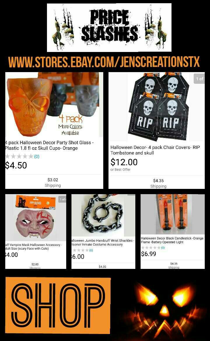 Halloween Stuff For Sale. FREE SHIPPING if you FOLLOE AND REPIN. FOLLOW: SalesForToday Also Visit: www.stores.ebay.com/jenscreationstx
