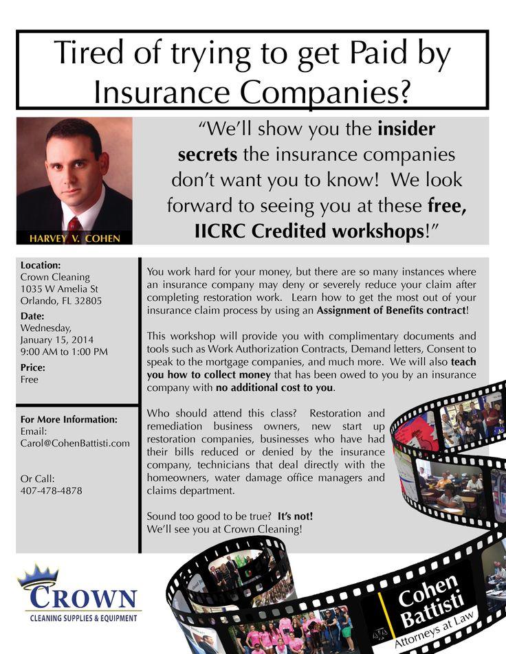 #InsuranceDisputes #RestorationContractors #CohenBattistiAtttorneys #InsuranceCompanies #Hurricanes #HomeOwners #Workshops #Attorneys #Legal #InsiderSecrets #IICRC #Contractors #