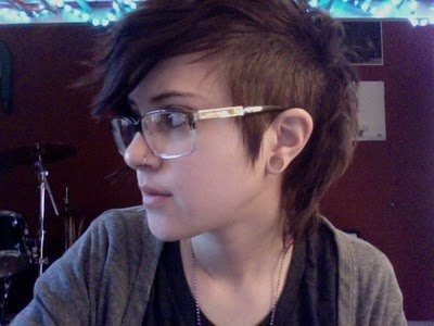 Another half shaved hairstyle I like it short like this
