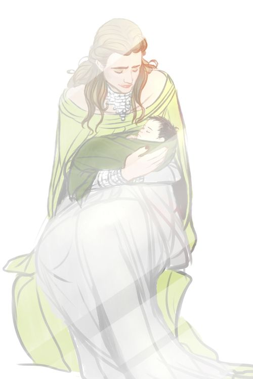 Frigga and baby Loki   INTERNET. WAT R U DOING. INTERNET. STAHP.