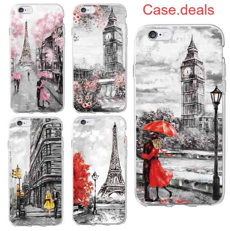 Fashion London Paris New york Lover Autumn Maple Soft Clear Phone Case For iPhone 6 6S 6Plus 7 7Plus 5 SE 8 8Plus X SAMSUNG S8
