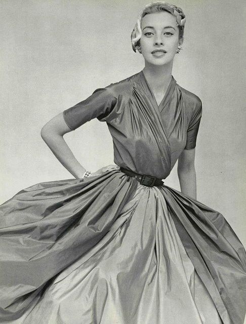 Ciao Bellissima - Vintage Glam; Model wearing Madame Gres, 1953