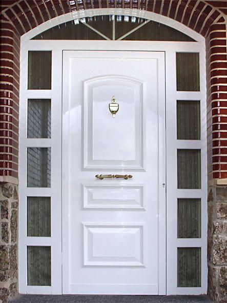 Anusa proyectos puertas entrada puertas aluminio - Puertas de aluminio para entrada principal ...