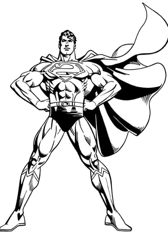 Superman Dashing Coloring Page