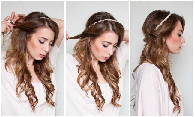 Easy Half Up, Half Down Hair Wrap Tutorial | La Petite Noob