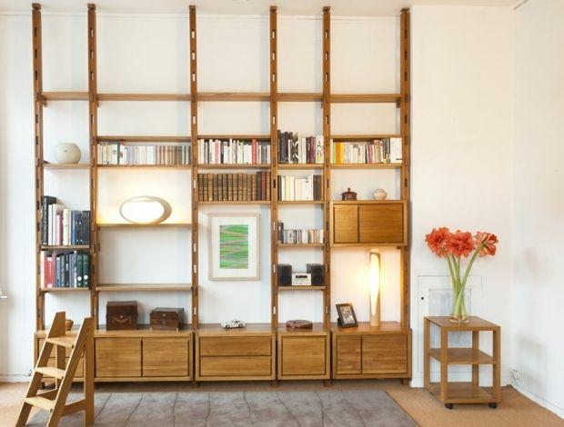 bibliothèque modulaire assemblable à la maison