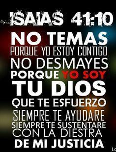 Isaias 41:10 Dios es en control