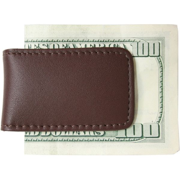 Royce Leather Money Clip ($25) ❤ liked on Polyvore featuring men's fashion, men's accessories, men's money clips, brown, mens leather accessories and mens leather money clip