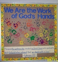 Free Church Bulletin Board Idea | Gods handiwork bulletin board idea from D. Robinson