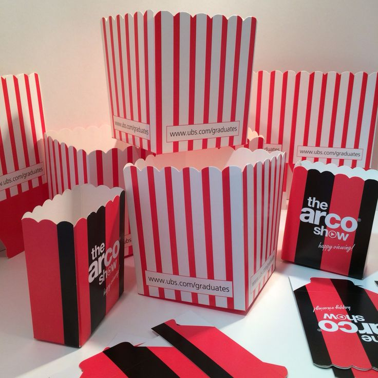 Branded Popcorn boxes www.scyphus.co.uk