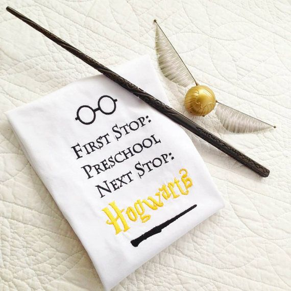 Harry Potter Hogwarts T shirt  Can be embroidered  to your specific age group