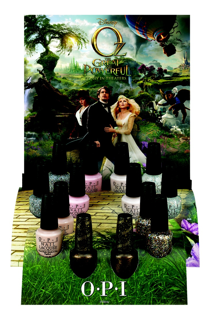 OPI's new limited edition collection for Disney's Oz The Great and Powerful  http://www.beautyguild.com/news.asp?article=2616