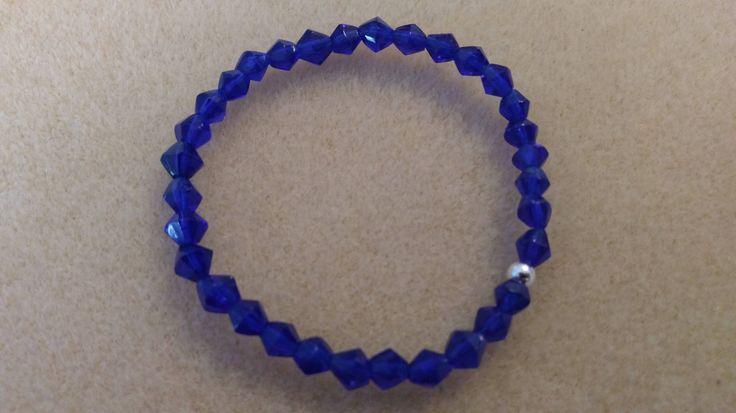 Stretch bracelet, girls blue bracelet, sapphire, September birth stone, girl's bracelet, kid's bracelet, elastic cord, kids jewelry by ColorfulJewelry1 on Etsy