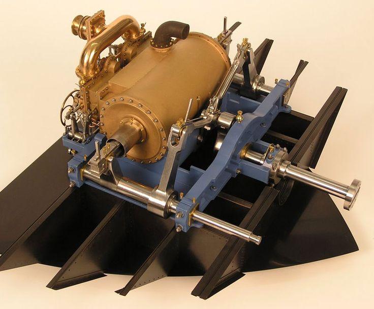 Motor de Vapor Funcional a Escala del Barco de la Guerra Civil Americana USS Monitor